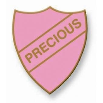 Precious Enamel Shield Badge, Old School Vintage Style!