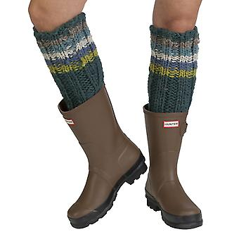 Tierra women's wool welly socks in teal | Fairtrade & hand-made by Pachamama