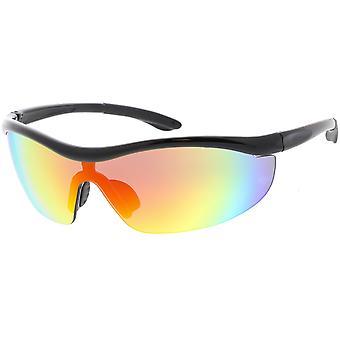 半縁なしの TR 90 ラップ スポーツ サングラス シールド レンズ 77 mm