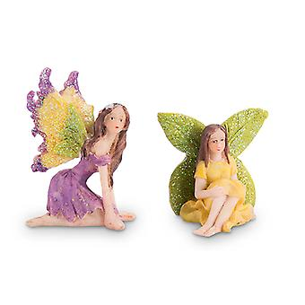 Mrs Green Garden Fairy Figurines (Set of 2)