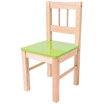 Bigjigs Toys Children's Sturdy Wooden Green Chair Bedroom Furniture Accessories