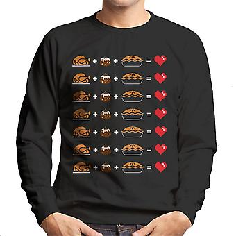 Christmas Dinner tilsvarer Love menns Sweatshirt