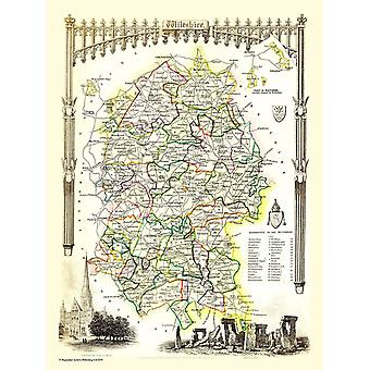 Old Map of Wiltshire 1836 by Thomas Moule 1000 Piece Jigsaw Puzzle (jhg)