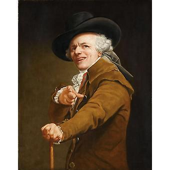 Self-portrait as a Mocker, Joseph Ducreux, 50x40cm