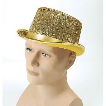 Top hat. Gold Lurex.