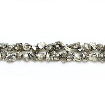 Strand 120+ Pale Gold Pyrite 3-4mm Chip Beads GS16271