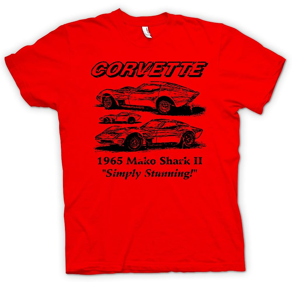 Herren T-Shirt - Corvette Mako Shark II - Classic Car