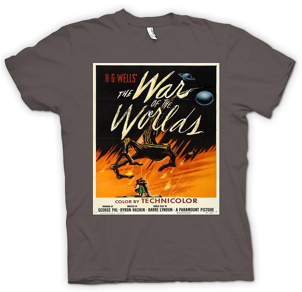 Mens T-shirt - War Of The Worlds - H G Wells - Poster