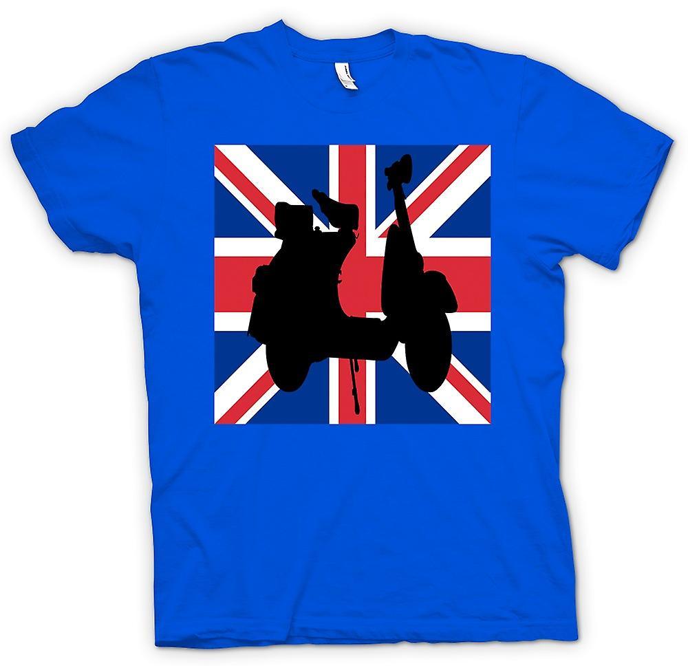 Mens t-shirt - Scooter Vespa - Union Jack