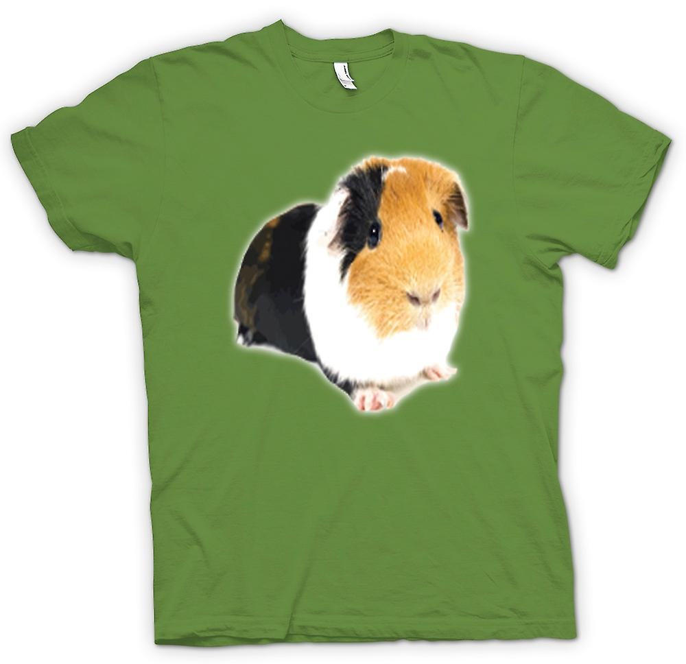 Mens T-shirt - Guinea Pig Brown And White