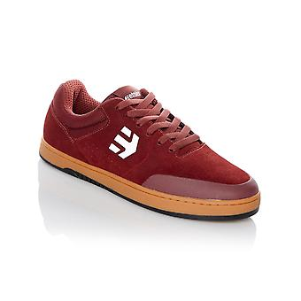Etnies Burgundy-Tan-White Marana x Michelin Outsole Shoe