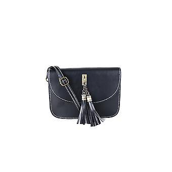 Lovemystyle kleine schwarze Seitentasche mit großen goldenen Quaste