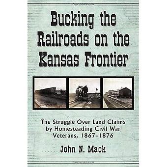 Bucking het spoorlijnen op de grens van Kansas
