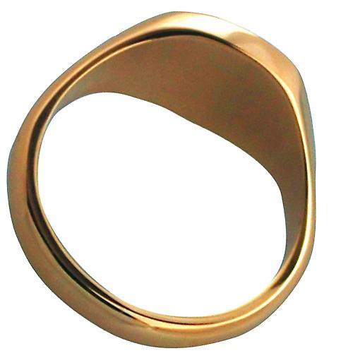 9ct Gold 13x13mm cushion Monogrammed solid Signet Ring Size W