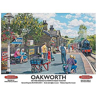 Oakworth, Keighley & Worth Valley Railway - Large Metal Sign 400mm x 300mm (og)