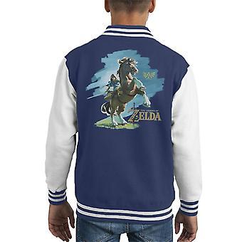 Legende van Zelda-Link op Epona Kid's Varsity Jacket