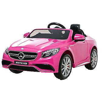 Licensed Mercedes-Benz 63 AMG 6V Twin Motor Ride on Car Pink With Parental