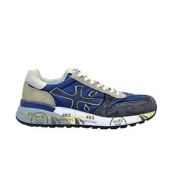 Premiata Blue Leather Sneakers