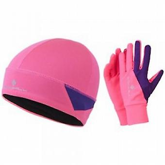 Vizion Beanie And Glove Set AW15 Pink/Wildberry