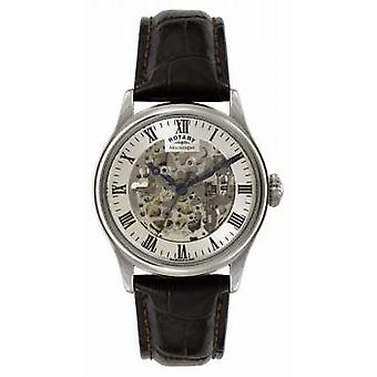 Rotary Mens Skeleton Automatic Leather GS02940/06 Watch