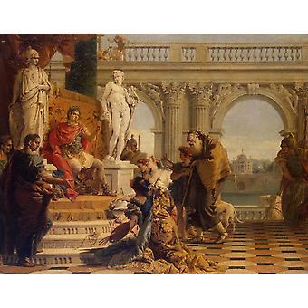 Maeccenas presenting the, Giovanni Battista Tiepolo, 50x40cm