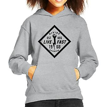 Divide & Conquer Live Fast Wrench Kid's Hooded Sweatshirt