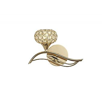 Diyas Leimo Wall Lamp Switched 1 Light Left French Gold/Crystal