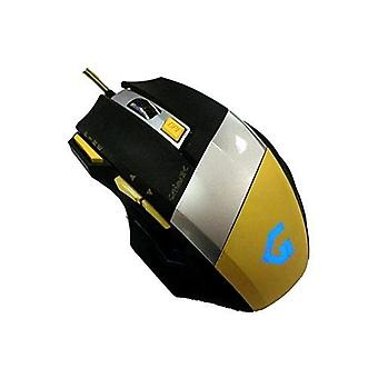 Cortek mogm03 mouse gm3 gaming 3,200 dpi 7 programmable keys black yellow
