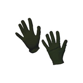Kids Black Magician Gloves Cotton Halloween Fancy Dress Costume Accessory