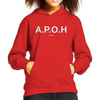 A.P.O.H Classic White Logo Kid's Hooded Sweatshirt