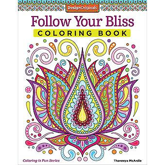 Design Originals-Follow Your Bliss Coloring Book FOX-5531