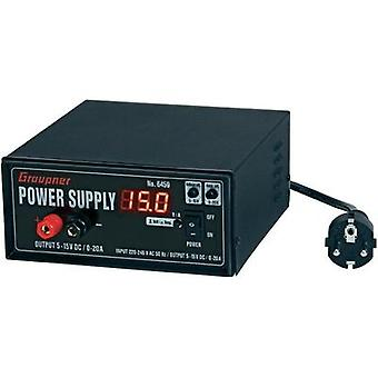 Graupner 100 - 240 Vac Power supply 300 W (5 - 15 Vdc 0 - 20 A)