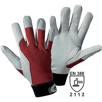Griffy 1706 Assembly gloves Nappa leather with red interlock-back of the hand Size 9