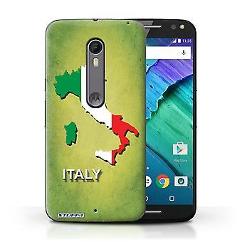 STUFF4 Case/Cover for Motorola Moto X Style/Italy/Italian/Flag Nations