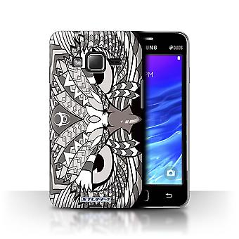 STUFF4 Case/Cover for Samsung Z1/Z130/Owl-Mono/Aztec Animal