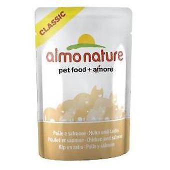 Almo nature Chicken and Salmon (Cats , Cat Food , Wet Food)