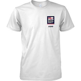 T-shirt cor de esportes judô RN logotipo 2 - Marinha Real