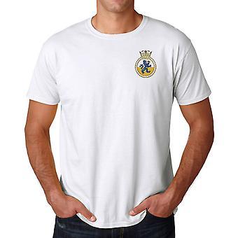 HMS Shoreham Embroidered logo - Official Royal Navy Ringspun T Shirt