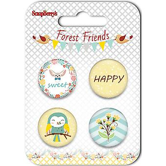 ScrapBerry's Forest Friends Embellishments-#3 SCB1050