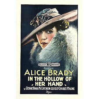 In The Hollow Of Her Hand Alice Brady On Poster Art 1918 Movie Poster Masterprint