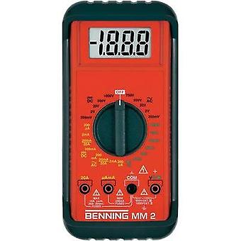 Handheld multimeter digital Benning MM 2 Calibrated to: Manufacturer standards CAT II 1000 V, CAT III 600 V Display (co