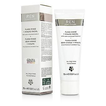 Ren Flash Rinse 1 Minute Facial 75ml/2.5oz