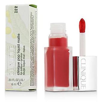 Clinique Pop Liquid Matte Lip Colour + Primer - # 04 Ripe Pop - 6ml/0.2oz