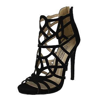 Damen-Spot auf Mode-Peep-Toe Detail Heels F10414 Ausschneiden