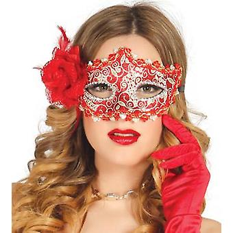 Guirca Red Mask With Rosa (Kostuums)