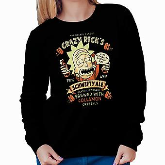 Crazy Ricks Schwifty Ale Rick And Morty Women's Sweatshirt