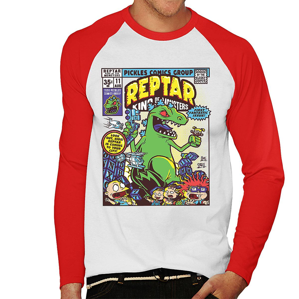 Reptar King Of Monsters Rugrats Men's Baseball Long
