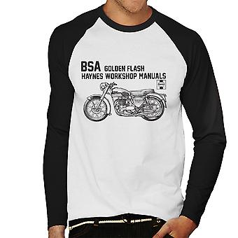 Haynes Owners Workshop Manual BSA A10 650 Golden Flash mannen honkbal lange mouwen T-Shirt