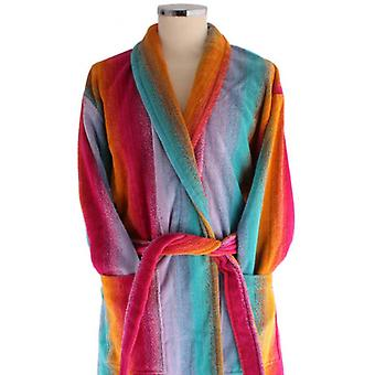 Bown of London Sunset Egyptian Cotton Velour Dressing Gown - Pink/Orange/Blue