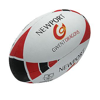 GILBERT newport gwent dragons supporter rugby ball 2014 size 5